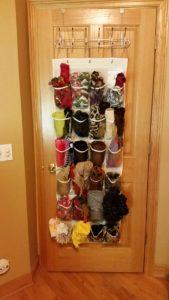 scarves organized