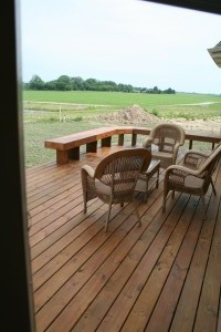 benches for deck rails