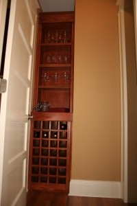 Stolen space wine rack