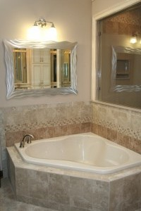 We reduced the size of the jetted tub, added a shared light window opening.
