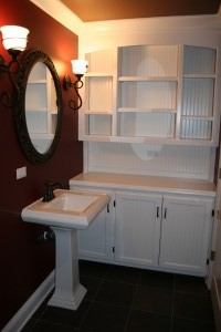 The owner saw this cabinet in a magazine, we built it for her.