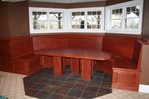 Table and storage benches