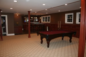 Gaming and bar area