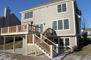 Deck on new construction