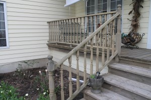 Porch rail before