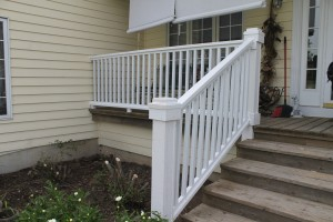 Porch rail after