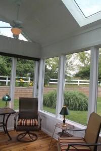 Screen porch addition inside