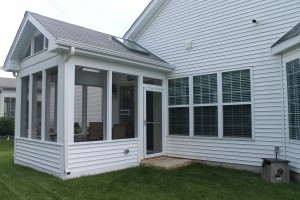 Screen porch addition after