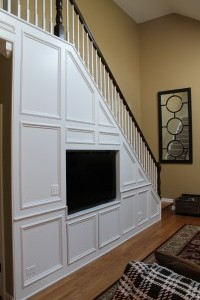 Wainscot on the walls