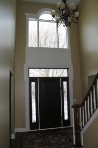 After new front door and trim.
